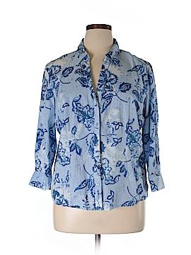 Jamaica Bay Long Sleeve Button-Down Shirt Size XL
