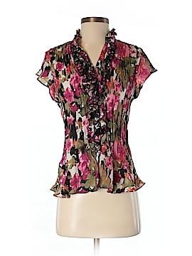 Allison Taylor Short Sleeve Blouse Size S