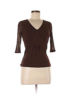 Alfani 3/4 Sleeve Silk Top Size P (Petite)