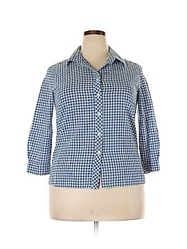 Pendleton 3/4 Sleeve Button-Down Shirt Size L