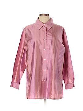 Jessica Holbrook Long Sleeve Button-Down Shirt Size L