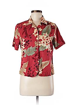 Alfred Dunner Short Sleeve Button-Down Shirt Size 8 (Petite)