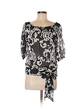 White House Black Market 3/4 Sleeve Silk Top Size S