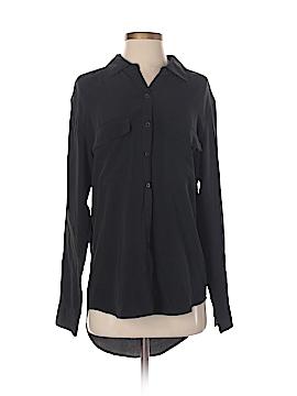 Trulli Long Sleeve Silk Top Size S