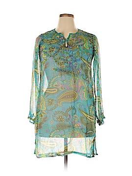 Raj 3/4 Sleeve Silk Top Size L