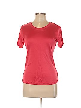 Louben Short Sleeve Silk Top Size M