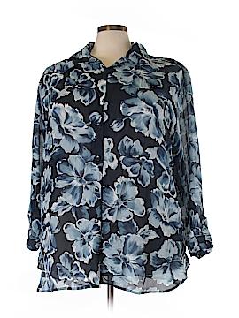Jaclyn Smith Long Sleeve Blouse Size 24 (Plus)