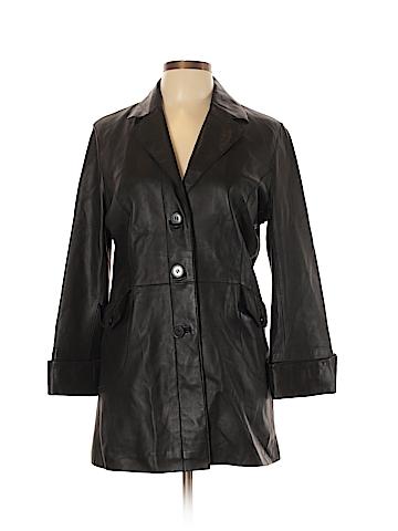 Womyn Leather Jacket Size L