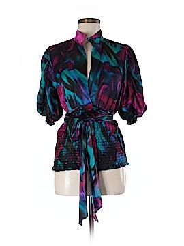 ABS Allen Schwartz Short Sleeve Silk Top Size M