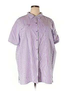 Roaman's Short Sleeve Button-Down Shirt Size 30 (3X) (Plus)