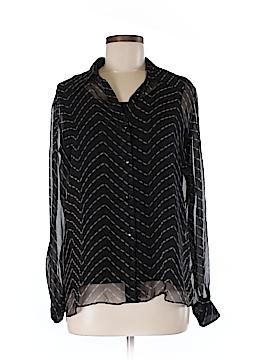 New York City Design Co. Long Sleeve Silk Top Size M