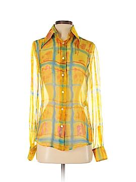 Dolce & Gabbana Long Sleeve Silk Top Size 40 (IT)