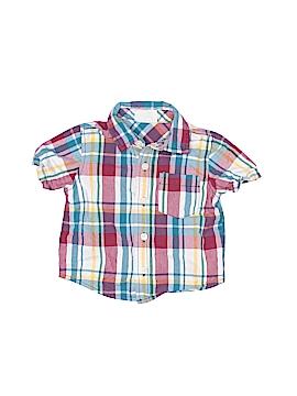 Crazy 8 Short Sleeve Button-Down Shirt Size 3-6 mo