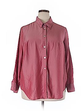 Avenue Long Sleeve Silk Top Size 18/20 Plus (Plus)