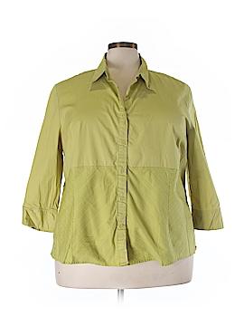 Millenium 3/4 Sleeve Button-Down Shirt Size 26/28W (Plus)