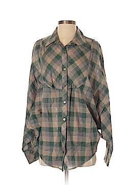 Piacere Di Piu Long Sleeve Button-Down Shirt Size S