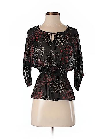 Fei Short Sleeve Silk Top Size S