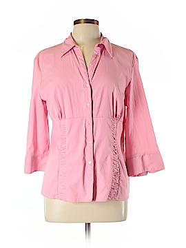 Scott Taylor 3/4 Sleeve Button-Down Shirt Size L (Plus)