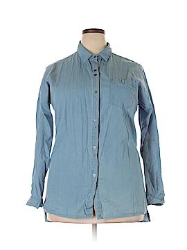 Margot Long Sleeve Button-Down Shirt Size L