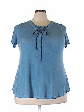 Umgee Short Sleeve Top Size 1X (Plus)