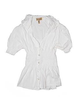 NaNa Fashion Short Sleeve Button-Down Shirt Size S