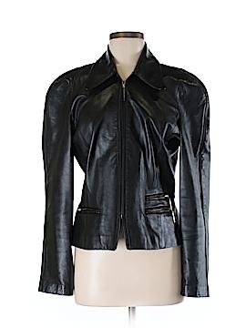 Linda Allard Ellen Tracy Leather Jacket Size 8