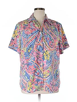 Alia Short Sleeve Button-Down Shirt Size 16