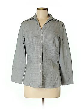 Sharagano Long Sleeve Button-Down Shirt Size M