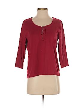 Lizwear by Liz Claiborne 3/4 Sleeve Henley Size M