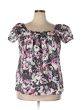Daisy Fuentes Short Sleeve Blouse Size XL