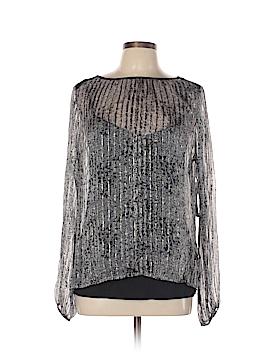 Ella Moss Long Sleeve Silk Top Size L