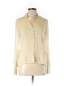 AK Anne Klein Long Sleeve Silk Top Size 10
