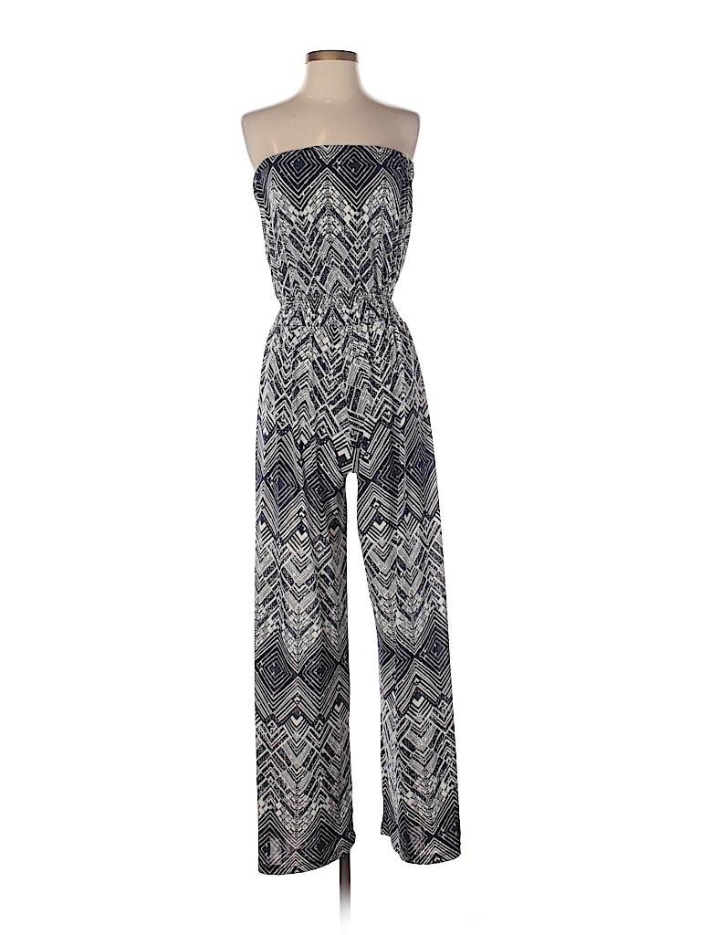 e2ad643f694 Mlle Gabrielle Print Dark Blue Jumpsuit Size M - 66% off