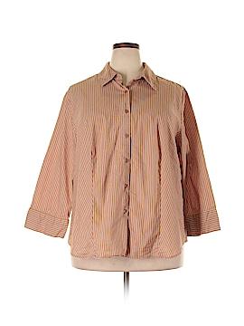 Jessica London 3/4 Sleeve Button-Down Shirt Size 22/24 (Plus)