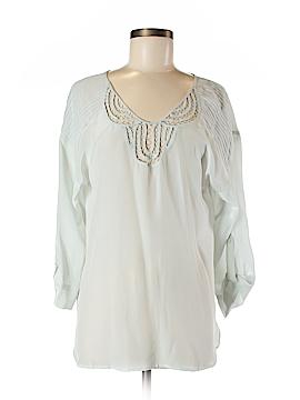 Rainn 3/4 Sleeve Silk Top Size M