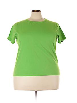 August Silk Short Sleeve T-Shirt Size 2X (Plus)
