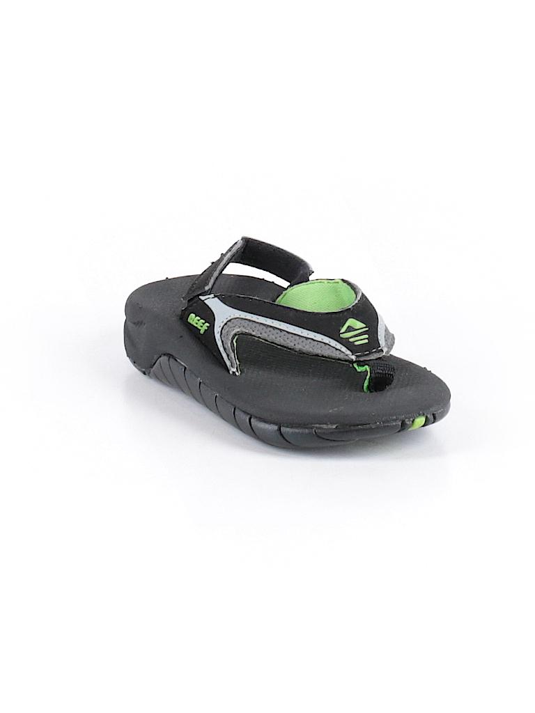 693c8c3b38ab Reef Solid Black Flip Flops Size 3 - 4 Kids - 90% off