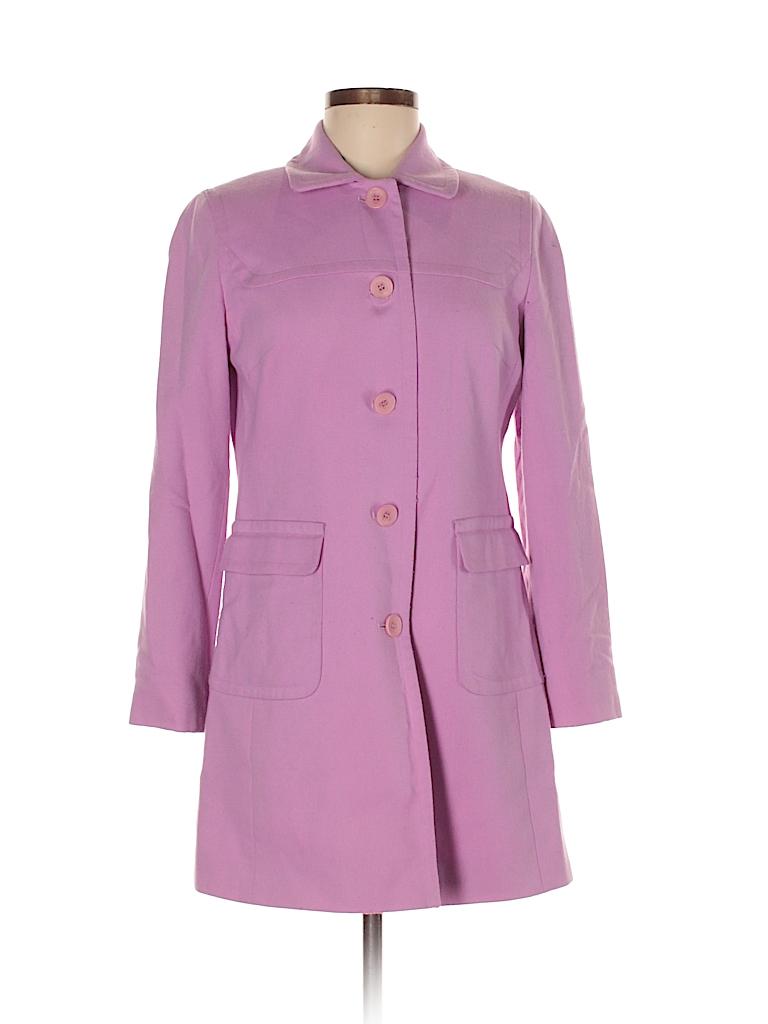 57ab1e779f9 Ann Taylor LOFT Solid Light Purple Wool Coat Size 6 (Petite) - 88 ...