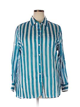 Ellen Tracy 3/4 Sleeve Button-Down Shirt Size XL