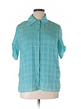 Christopher & Banks Short Sleeve Blouse Size XL