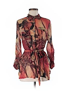 Da-Nang Long Sleeve Silk Top Size M