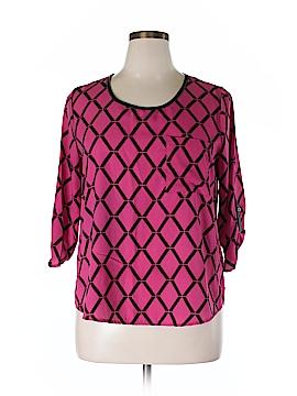 Signature Studio 3/4 Sleeve Blouse Size L