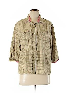 Woolrich 3/4 Sleeve Button-Down Shirt Size XL (Petite)