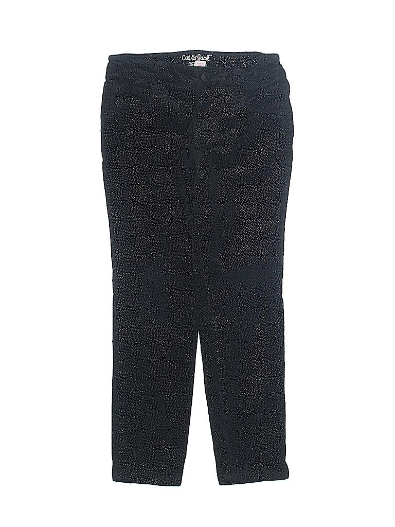 6e3250e60e026 Cat   Jack 100% Cotton Print Black Jeggings Size 6 - 80% off