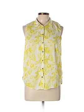 H&M L.O.G.G. Sleeveless Button-Down Shirt Size 10