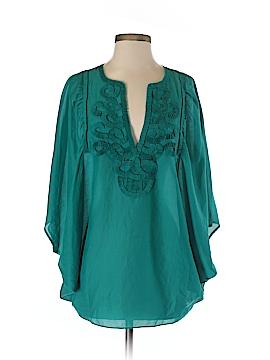 BCBGMAXAZRIA Short Sleeve Blouse Size 0S (Plus)