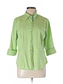 Chadwicks 3/4 Sleeve Button-Down Shirt Size L