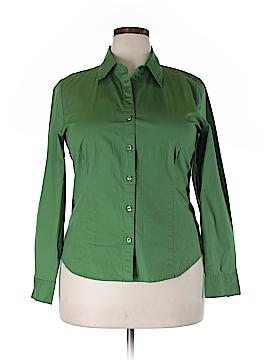 Kim Rogers Long Sleeve Button-Down Shirt Size XL