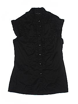 Fashionista Short Sleeve Button-Down Shirt Size S