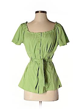 Antilia Femme Short Sleeve Button-Down Shirt Size M